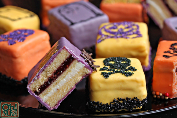 Halloween Petit Fours Recipe Oh Nuts Blog