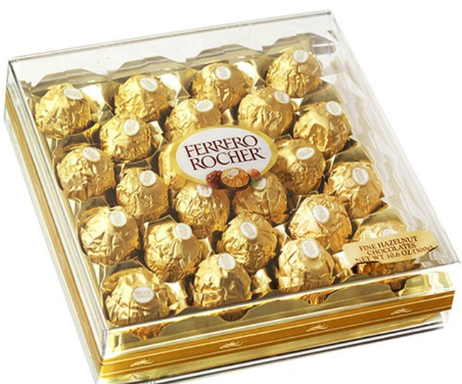 Ferrero Rocher Chocolate Truffle Gift Box 24 Pc Oh Nuts