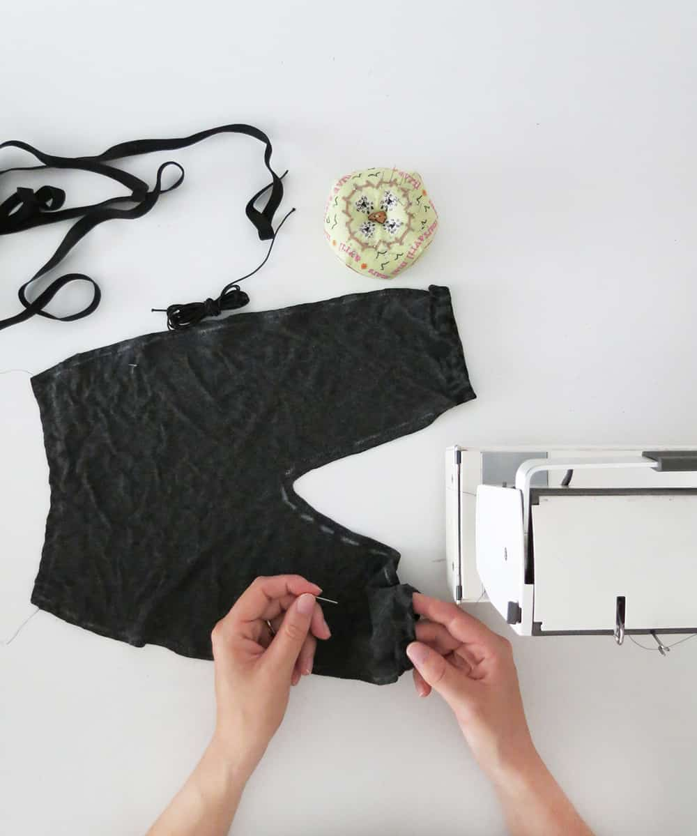 fold the bottom of the baby pants