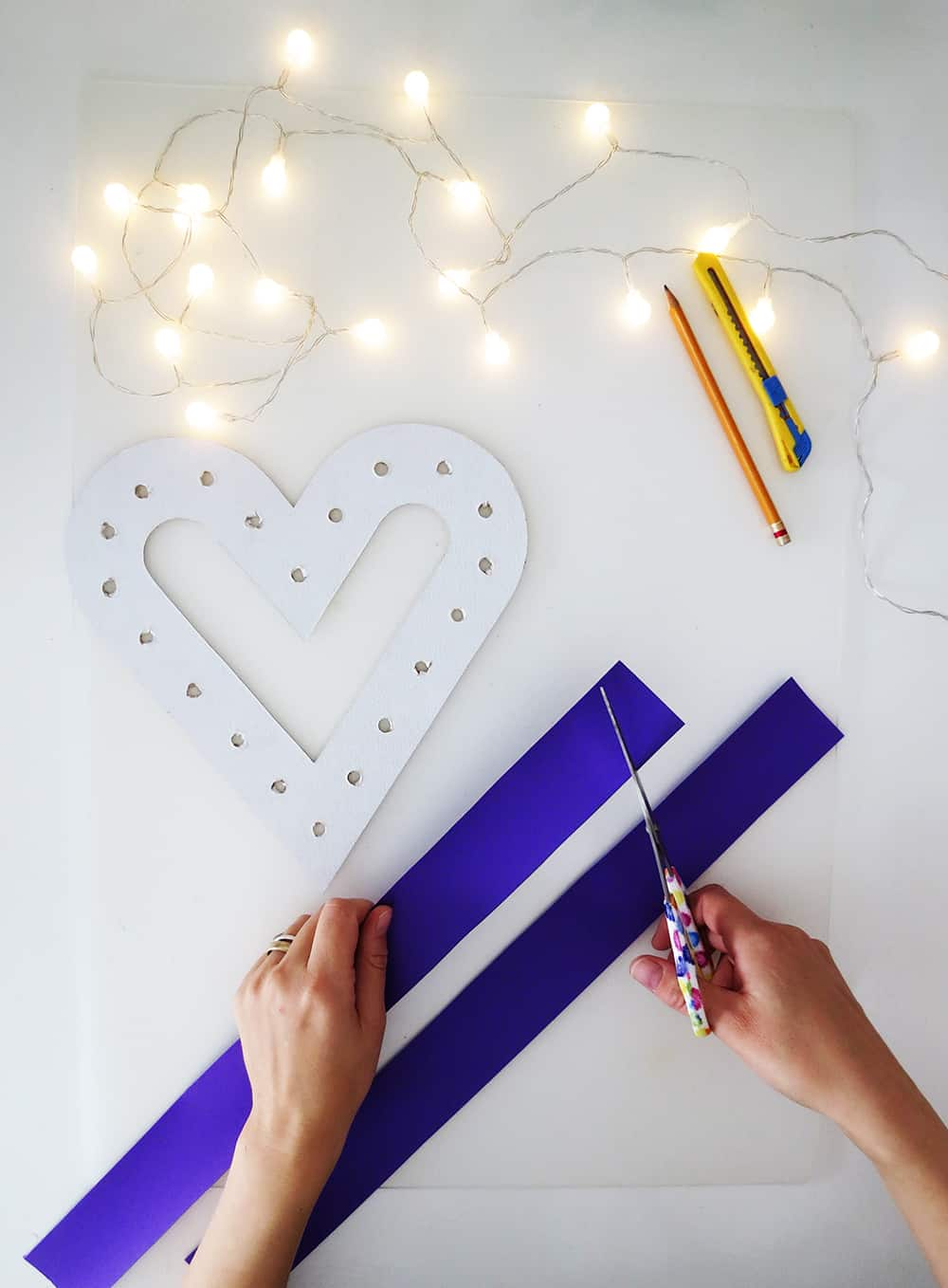 cutting paper diy marquee sign