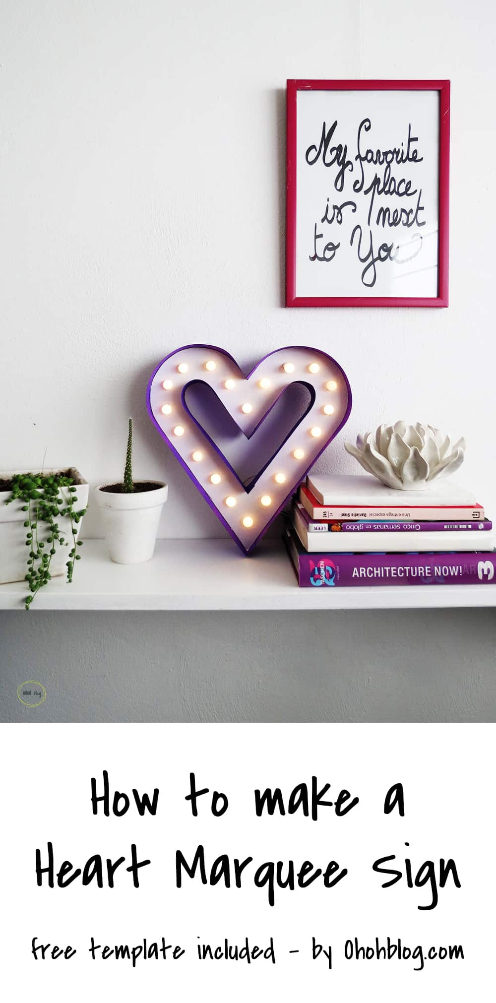 make a heart marquee sign