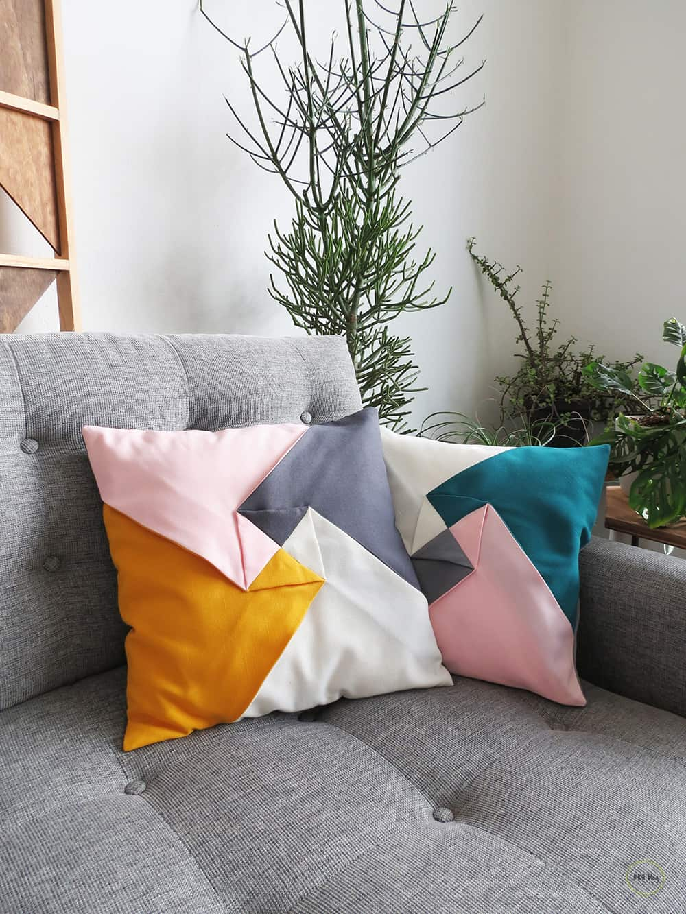 color block cushion cover