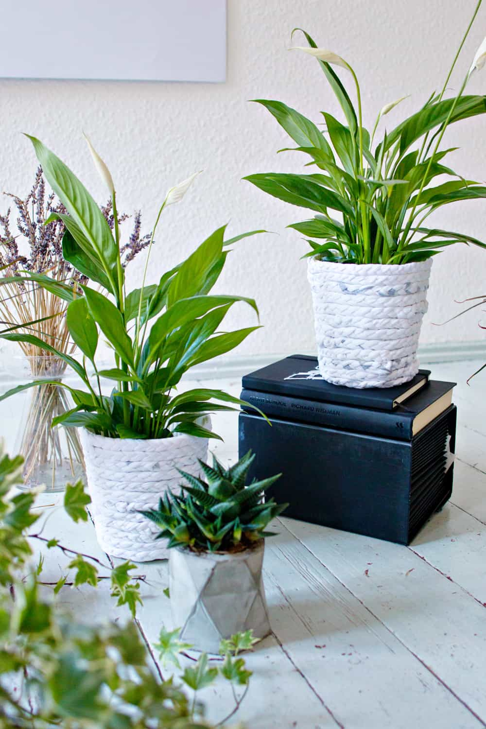 diy recycled rope planters