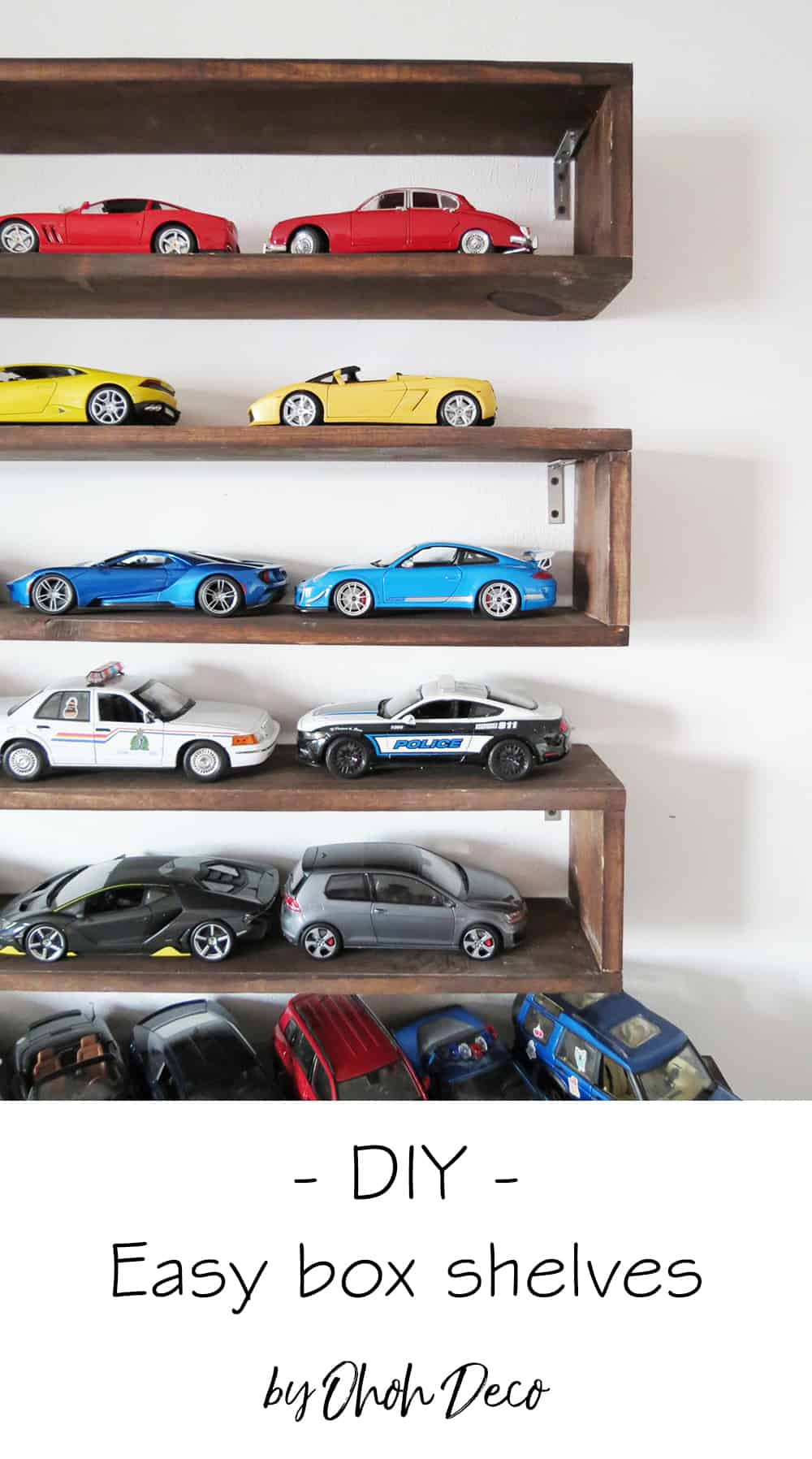 diy easy to build boxed shelves