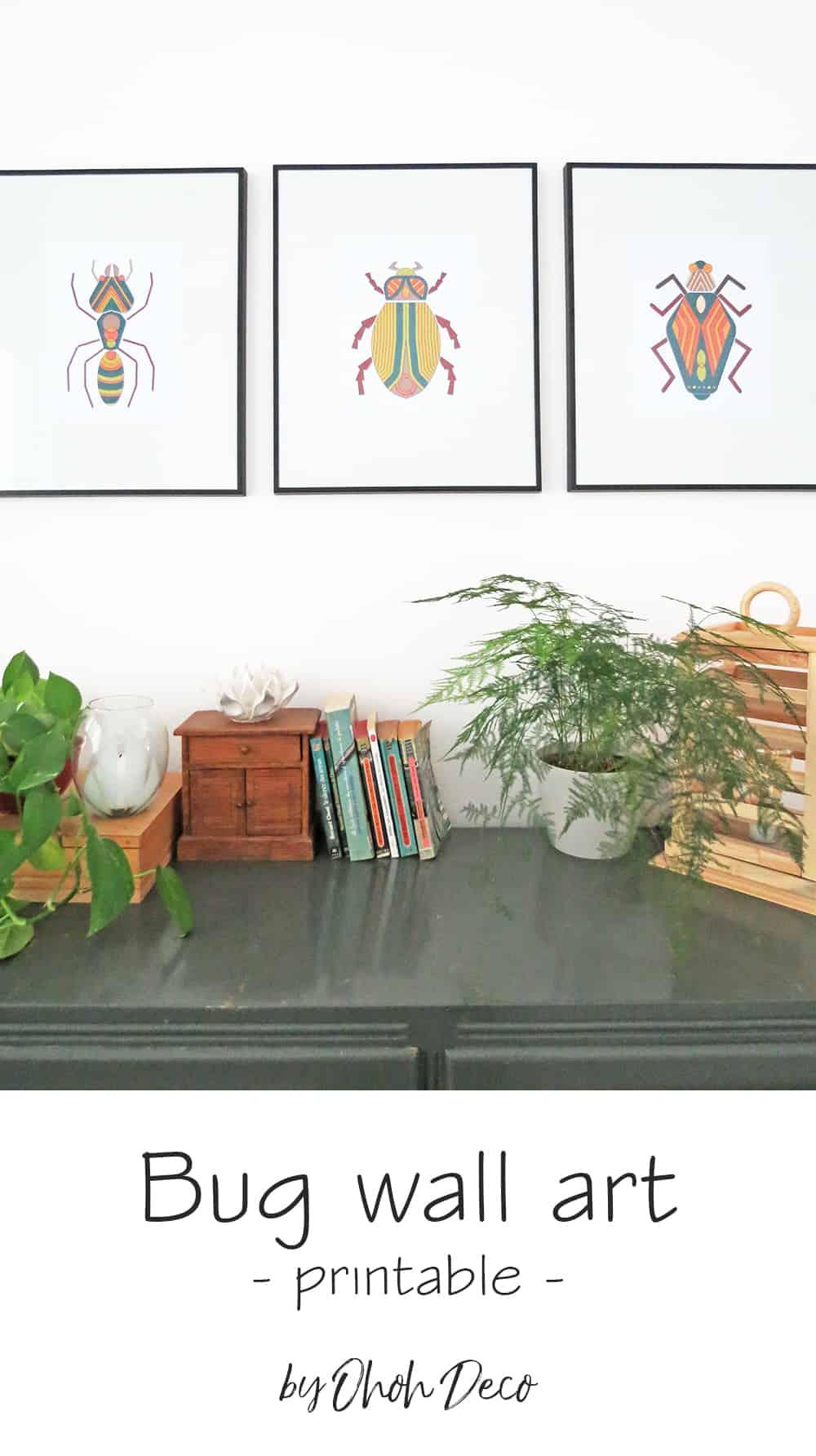 bug wall art prints