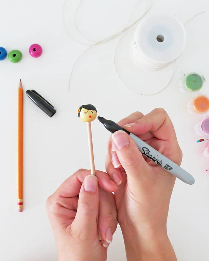DIY beads dolls pencil toppers