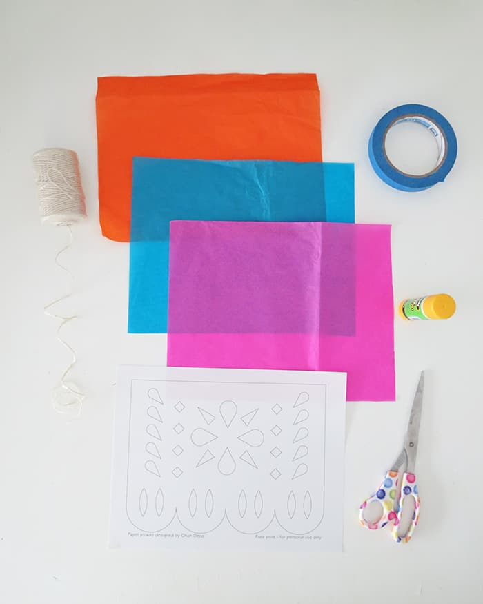 how to make diy papel picado material