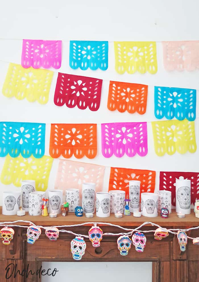 how to make diy papel picado hanging banners