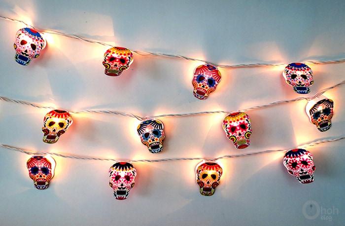 sugar skull garland