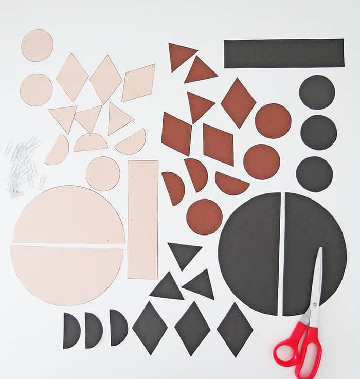 shapes to make paper wall hanging
