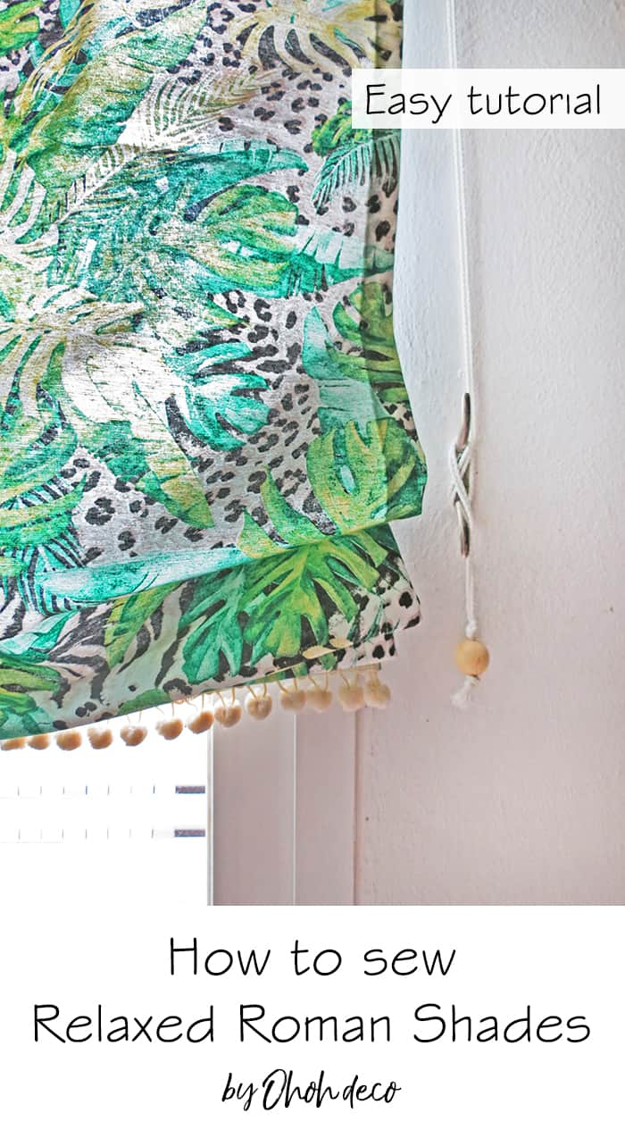 How to make Relaxed Roman Shades - DIY tutorial