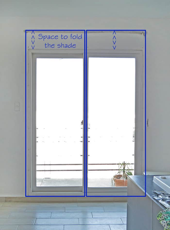 how to take measure to make relaxed roman shades