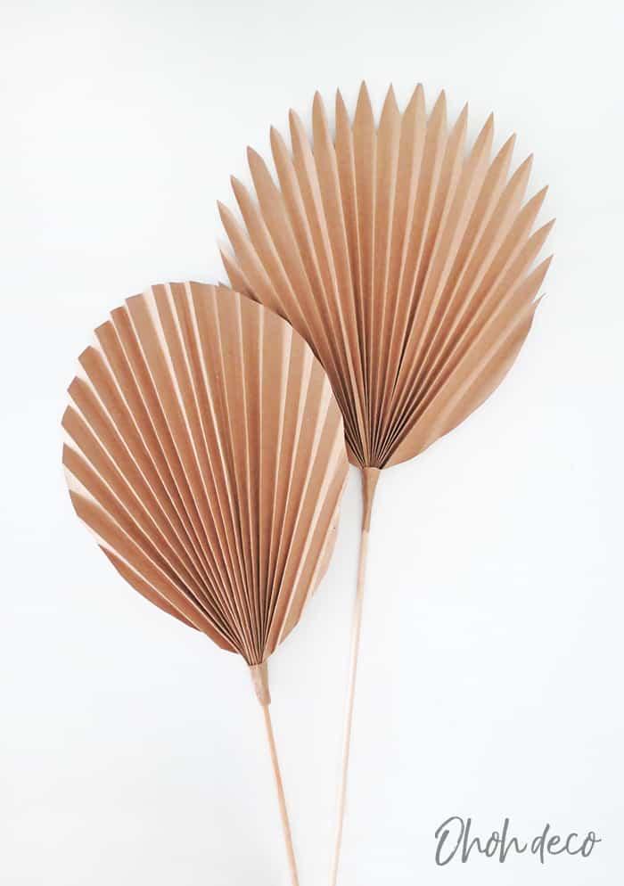 diy paper palm leaf