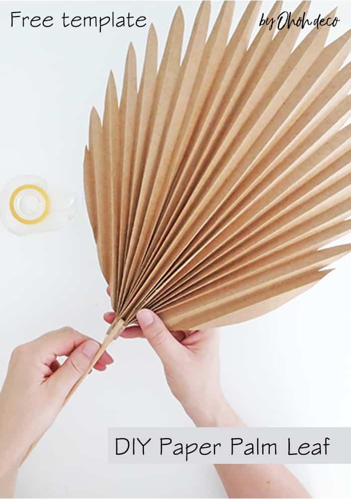 DIY paper palm leaf tutorial