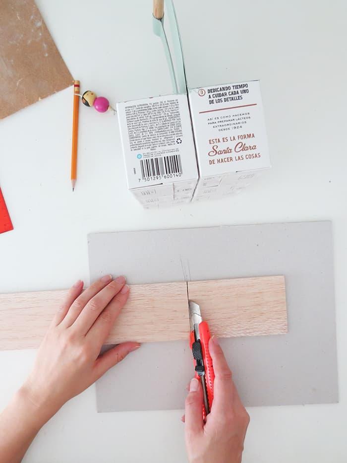 cutting wood for diy desk organizer caddy