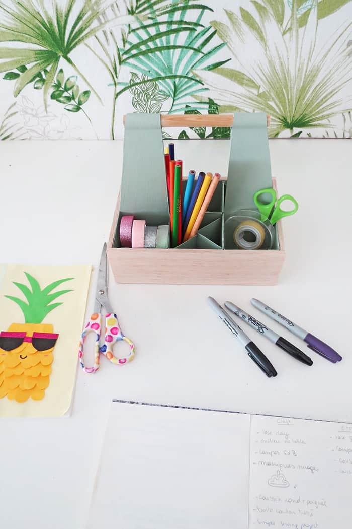 easy to make diy desk organizer caddy