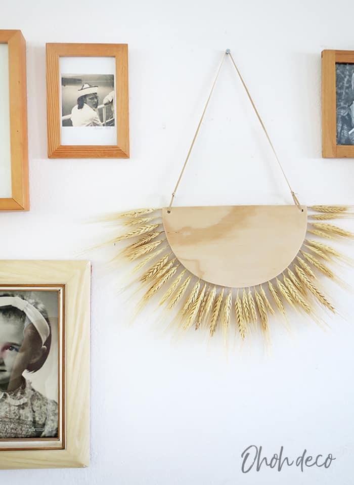 Wheat decor Wall Hanging DIY