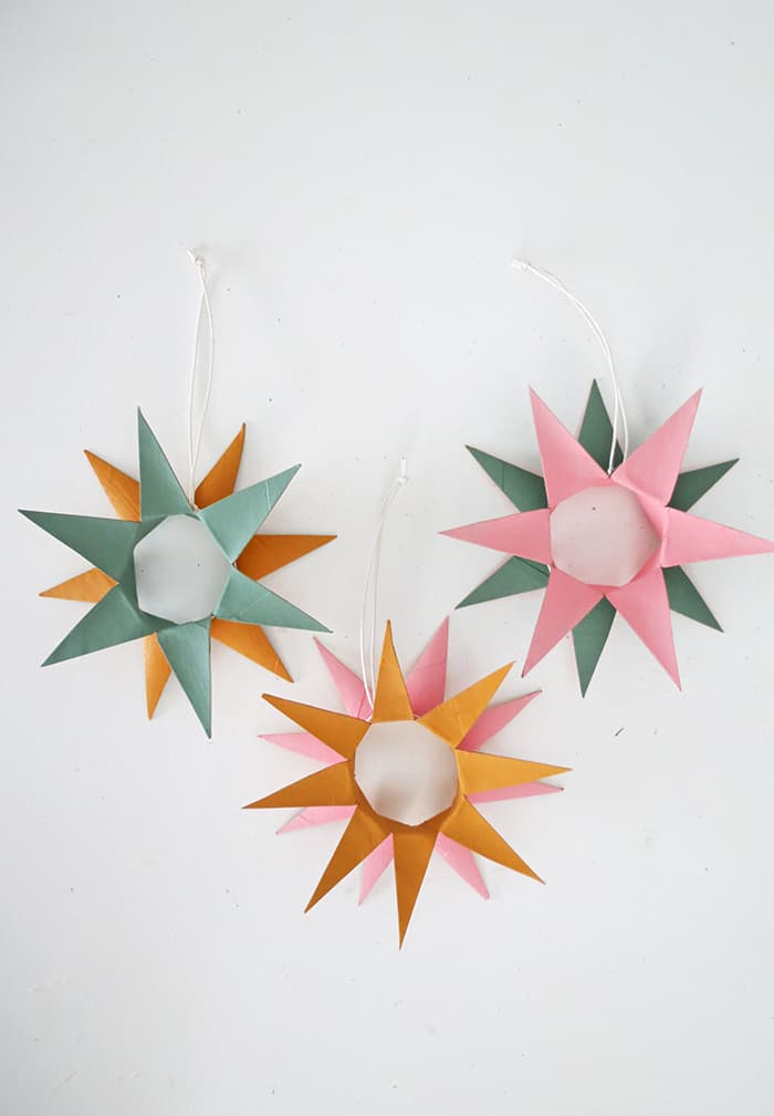 DIY toilet paper roll ornaments