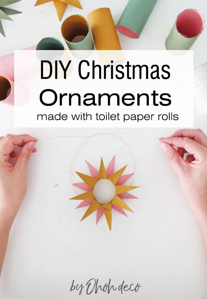How to make christmas ornaments with toilet paper roll
