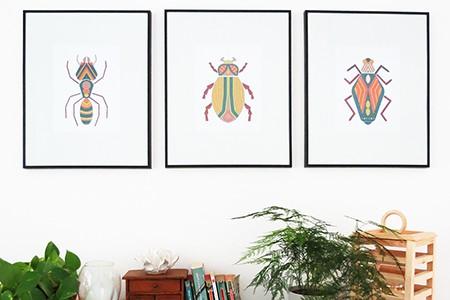 bugs wall art print