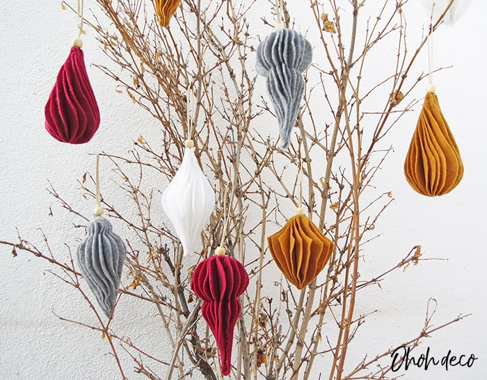 modern felt christmas ornaments
