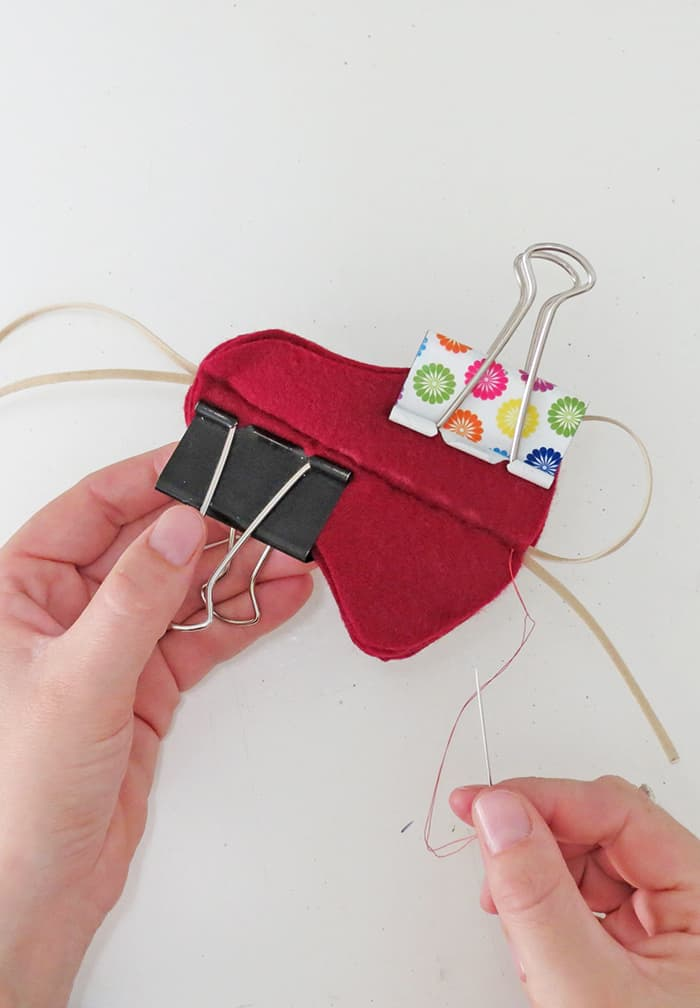 sew felt christmas ornaments