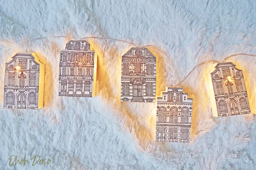 paper house garland