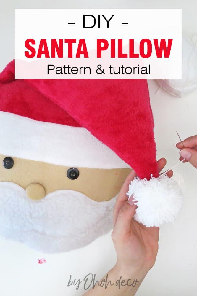 DIY Santa pillow pattern