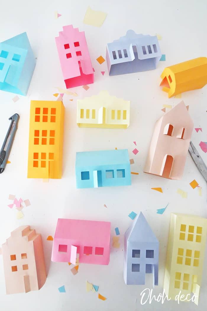3D house paper