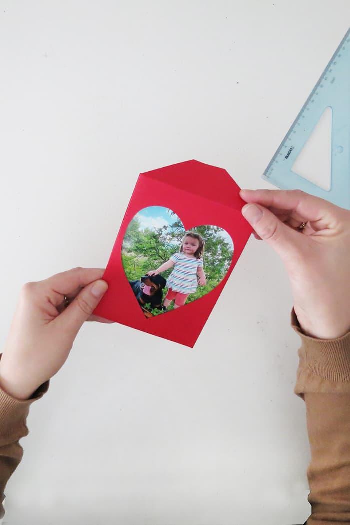 Paper photo frame 4x6