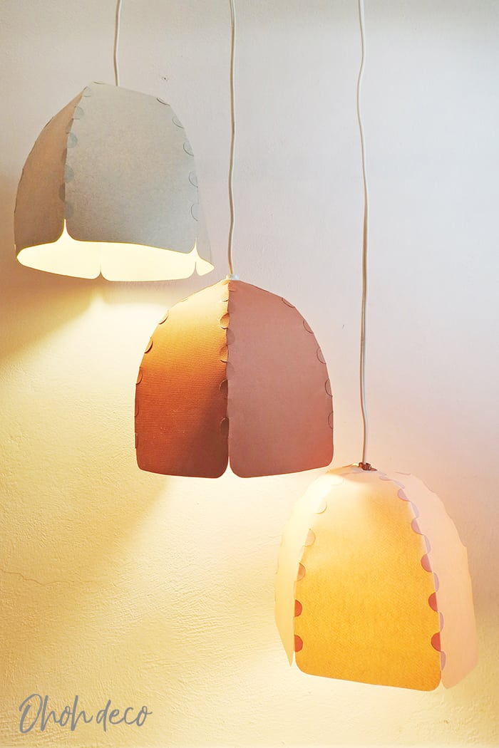 Easy to make paper lampshade