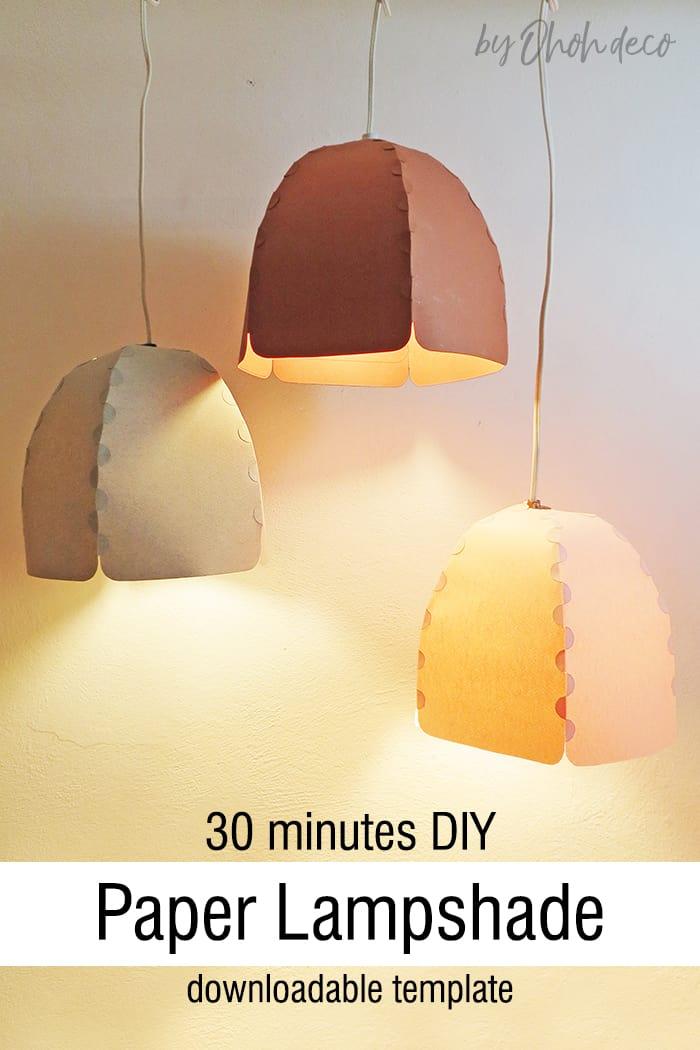 Easy DIY paper lampshade