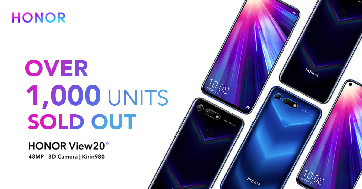 1,000 Units of the HONOR View20 Sold