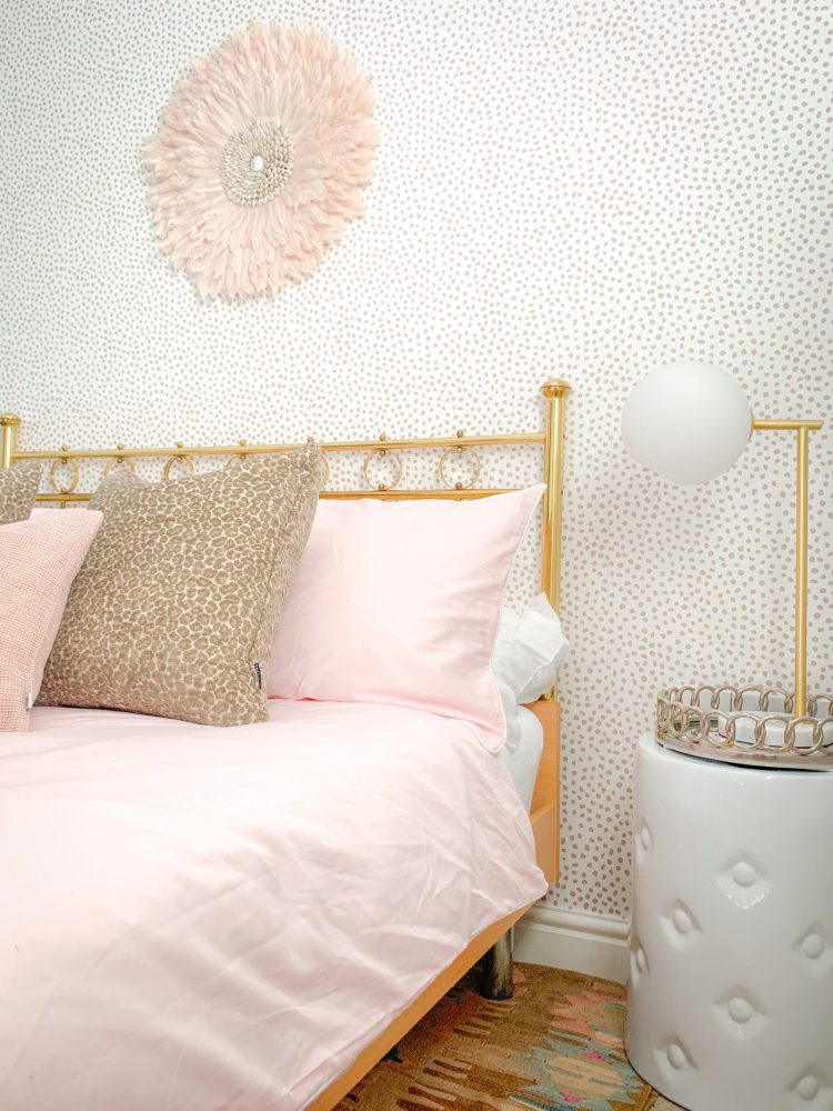 Safari Chic Dotty Guest Bedroom