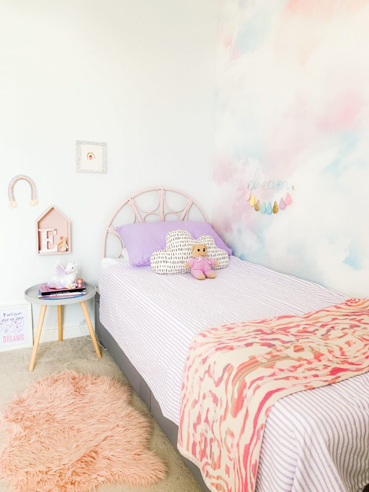 LILAC CLOUDS AND RAINBOWS GIRLS BEDROOM