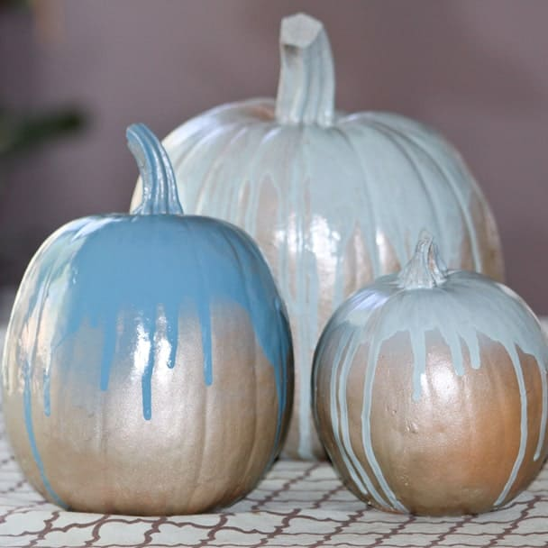 DIY  //  PRETTY PAINTED PUMPKINS