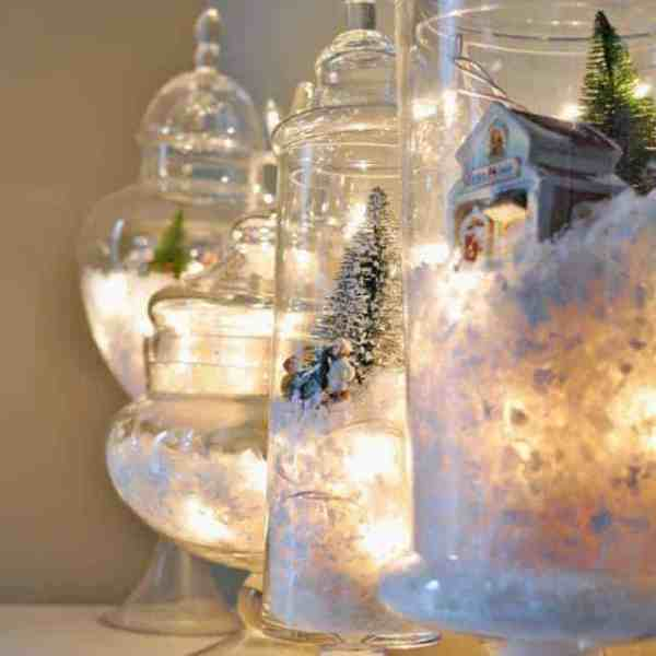 DIY  //  SNOW GLOBE TERRARIUMS + A FREEBIE