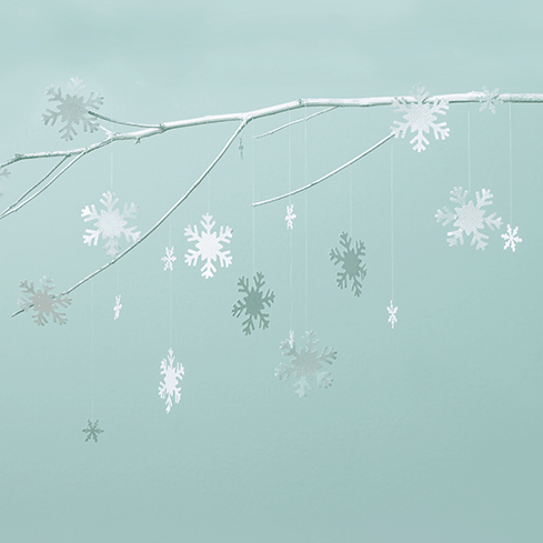 DIY  // SNOWFLAKE MOBILE