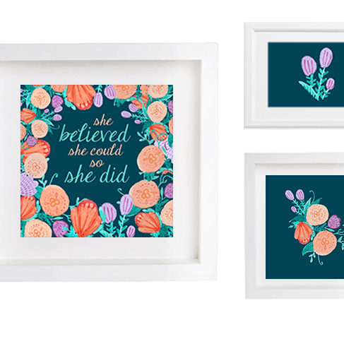 FREE PRINTABLES // SHE BELIEVED SHE COULD SO SHE DID