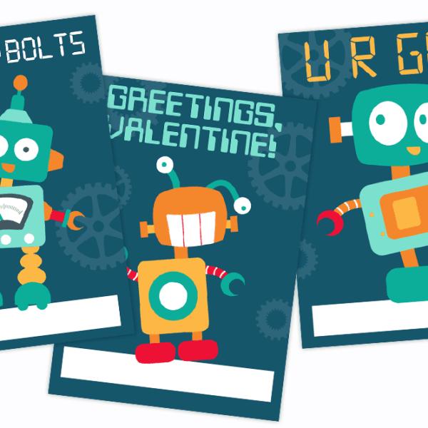 VALENTINE'S DAY // FREE ROBOT VALENTINES