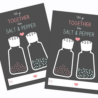 VALENTINE'S DAY // FREE SALT & PEPPER VALENTINES