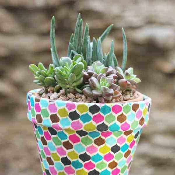DIY  //  FABRIC WRAPPED POTS