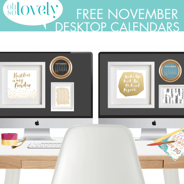 FREEBIES  //  NOVEMBER DESKTOP WALLPAPERS