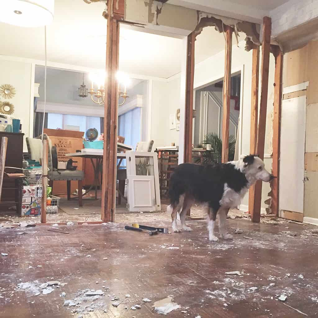 Our diy kitchen demolition demo and renovation on a budget oh so lovely blog diy kitchen demo and renovation solutioingenieria Images