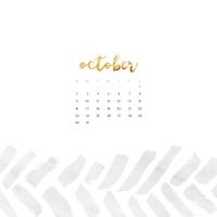 FREE October wallpaper calendars