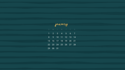 FREE January desktop calendar wallpapers