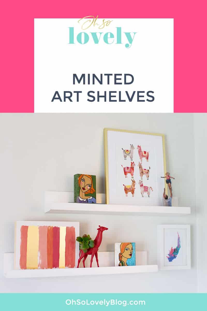 Dining room progress Minted Art Shelves