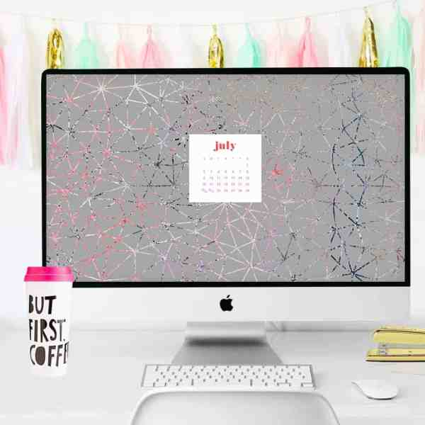 FREEBIES  //  JULY CALENDAR WALLPAPERS