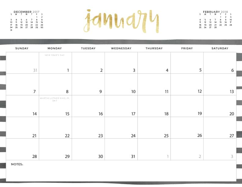 Download Your FREE 2018 Printable Calendars Today! There Are 20 Designs To  Choose From In
