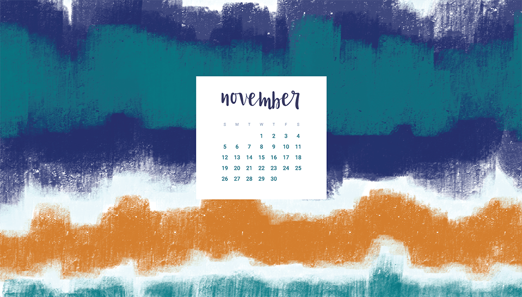 Oh So Lovely Blog shares 7 Free November desktop calendar wallpapers available in both Sunday and Monday start dates for desktop and mobile.